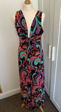 PHASE EIGHT MAXI DRESS SIZE 14 Multicoloured Mint Cond Holiday Cruise Womens