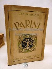 Arcari: Parini, Ed. Agnelli 1929, Biografia, Storia, Poesie, Illuminismo