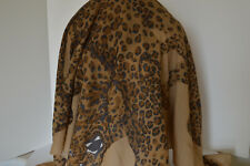 "Shawl Wrap Mondi Made In Italy "" Six Full Length Cheeta's ""100% Wool N.Marcus"