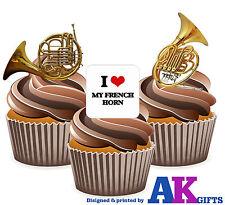 Amo la mia Corno Francese MIX 12 commestibili STAND UP CUP CAKE BANDA MUSICALE DECORAZIONI