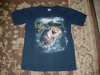 NCC GOLD APPAREL MEN'S NAVY BLUE T SHIRT SIZE MEDIUM LARGE MOUTH BASS