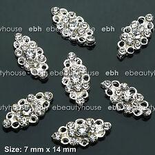 10 PCS Nail Art Silver Rhinestone Alloy Charms Decorations Jewelry #EJ-253