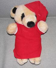 "12"" Interpur GOODNIGHT TEDDY BEAR NIGHTSHIRT HAT tan plush stuffed Gund Stitch"