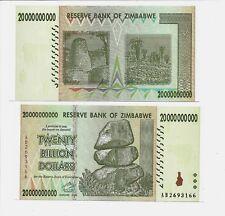 20 BILLION ZIMBABWE DOLLAR, 2008, MONEY CURRENCY.UNC. [TRILLION 10 50 100].