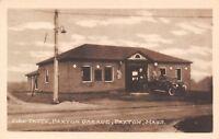Paxton Massachusetts~Fire Truck at Paxton Garage~Tires~1920s Sepia Postcard