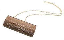 Ophelia Embellecido Diamante 20x10cm Golden Clutch Bag (Cl36)