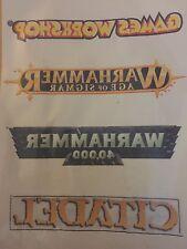 Games Workshop Warhammer 40k, age of sigmar, citadel Window Vinyl