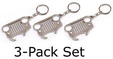 Jeep Grill Keychain with Bottle Opener Key Ring Car Fob Gift - (PACK OF 3)
