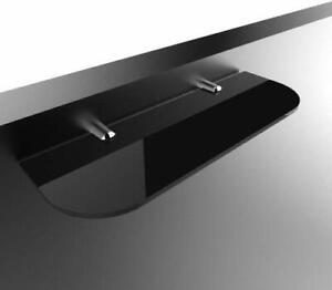 Straight Acrylic Safety Shelf Bathroom Bedroom Office Black 300 mm X 100 mm Room
