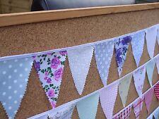 Handmade mini bunting - glamping/caravan/festival/dresser/window - all colours!