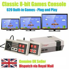 Mini TV Game Console Classic 620 Game Built-in W/2 Controller Novelty Gift Fun!!