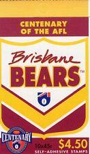 1996 AUSTRALIAN STAMP BOOKLET AFL CENTENARY BRISBANE 10 x 45c STAMPS MUH