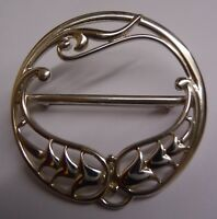 Scottish Ola Gorie Sterling Silver Paisley Scarf Brooch Pin