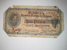Uruguay 20 Centesimos, P-14, 1913