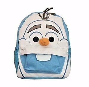 "Disney's Frozen Olaf Backpack Small Cute 12"" Blue Backpack Snowman A04065"