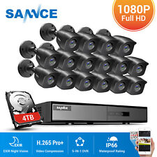 SANNCE 2MP Outdoor CCTV Camera 16CH 5IN1 DVR IP66 Home Surveillance Security Kit