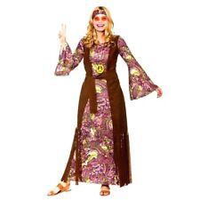 Adult SUMMER OF LOVE  Hippie Fancy Dress 60s 70s Ladies Costume Hippy Womens