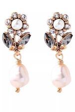 ANTHROPOLOGIE Geometric Pearl Earrings