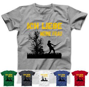 Angler Geburtstag T-Shirt Ich Liebe meine Frau zum Angeln gehen lässt Angelsport