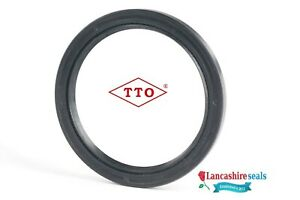 TTO 60x75x8mm Oil Seal Nitrile Rubber Double Lip R23 TC With Garter Spring