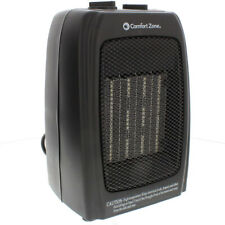 Comfort Zone Cz442 Portable Electric Ceramic Personal Fan Space Heater, Black