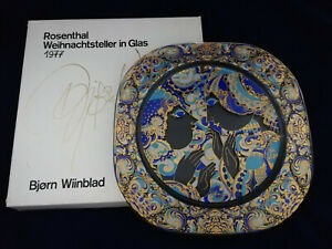 Rosenthal Christmas Plate Wiinblad Glass 1977 Proclamation + Boxed (My Pos. 7)