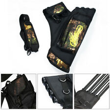 Archery Arrow Holders 4 Tube Bag Back Side Waist Quiver Camo Black Hunting Sport