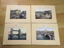4 x Vintage Photographs Prints London & Tower Bridge Picadily Hyde Park Corner