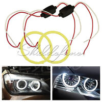 COB 80mm LED Car Angel Eye Halo Ring Bulbs Decoration Light Rings White