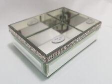 NEW BELLA LUX Mirror Rhinestone Crystal SOAP DISH / TRINKET DISH NEW AUTHENTIC
