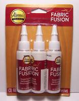 Aleene's Fabric Fusion Glue, 3-Pack Permanent Washable Non Toxic Fabric Adhesive