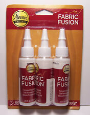 Aleene's Fabric Fusion Glue, 3-Pack Permanent Washable Non Toxic Fabric Adhesive