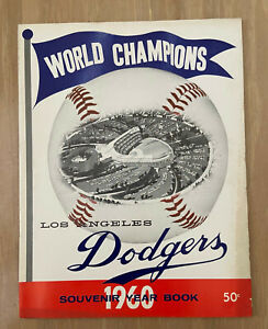 VINTAGE 1960 LOS ANGELES DODGERS OFFICIAL BASEBALL YEARBOOK - SANDY KOUFAX
