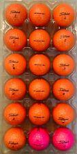 New listing 18 Titleist Velocity Pink and Orange AAAAA Golf Balls