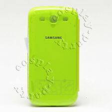 Authentic Samsung Flip Cover Battery Cover Case Galaxy S3 S III Green Lime New