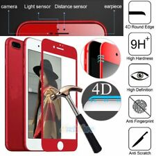 "4D Curved 9H Full Tempered Glass HD Clear Screen Protector for 4.7"" iPhone 7 Red"