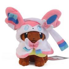 Pokemon Center Eevee Poncho Sylveon Nymphia Stuffed Plush Doll Toy Xmas Gift 7''