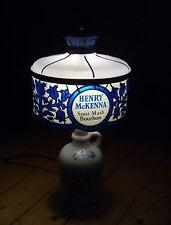HENRY McKENNA Tischlampe vintage BOURBON WHISKY lamp LEVITON Made in USA - Rarrr