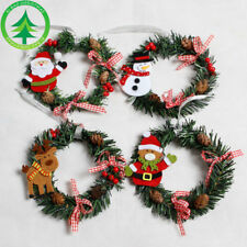 15cm Mini Christmas Wreath Door Hanging Ornament Garland Desktop Decoration Good