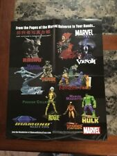 "Store Display Fold Out Poster Marvel Diamond Select Toys 16"" X 20"""