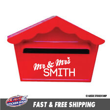 CUSTOM SURNAME FAMILY NAME LETTER BOX STICKER Decal Car Vinyl Personalized Te...