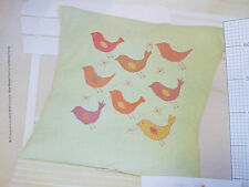 Rustic Bird Cushion Cross Stitch Chart Lucie Heaton Folk Art Stylised A1