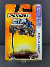 2006 Matchbox #2 Mercedes-Benz CLS500 BURGUNDY METALLIC MBX J2368 Diecast Car