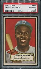 1952 Topps #312 Jackie Robinson  PSA 8 NM-MT