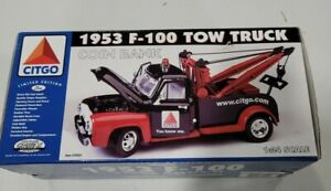 Gearbox Toys 1953  F-100 'CITGO' Tow Truck Ford Limited Edition Coin Bank