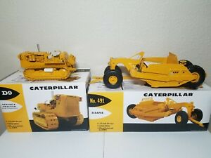 Cat D9E Tractor & 491 Scraper - First Gear 1:25 Scale 49-0148 & 49-0175 New!