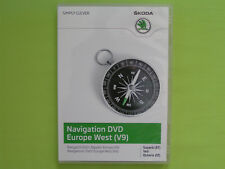 DVD NAVIGATION CY EUROPA WEST 2012 V9 SKODA SUPERB 3T OCTAVIA 1Z YETI VW RNS 510