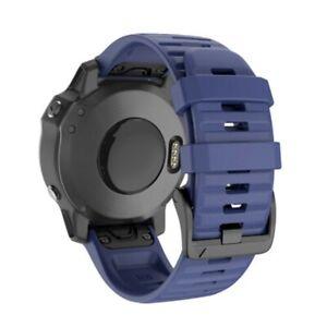 For Garmin Fenix 3 5 5X Plus 6 6X Pro Quick Fit Silicone Watch Band Wrist Strap
