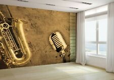 Music Background Piano and Sepia Wallpaper Mural Photo 11007616 premium paper