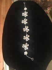 Bridal Floral Hair Vine hairbend Tiny Crystal Flower Wedding  Comb Headpiece